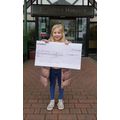 Presenting her Profits to the Hospice