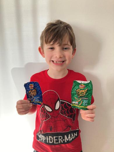 Shrinking crisp packets with an ever-growing smile! 😊