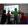 Beware! Spiderman, The Hulk and Batman in class!