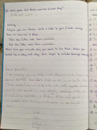 Lovely letter, Evelyn!