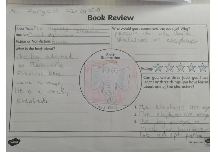 The Slightly Annoying Elephant- 5 stars from Ben.