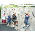 Fun on the climbing wall.