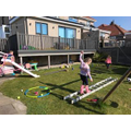 Mollie & Maisie's obstacle course!