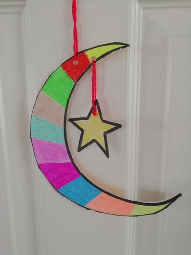I love this crescent moon and star made my Ben.
