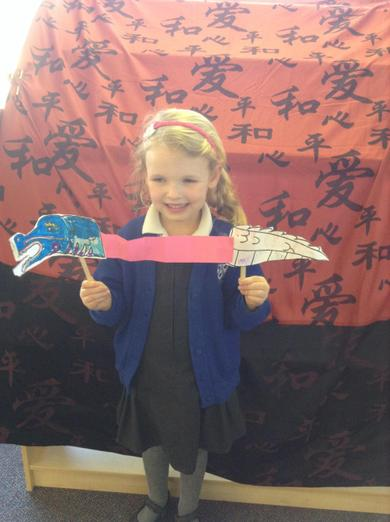Making dancing Chinese dragons.