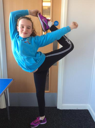 Poppy has 10 medals and 2 trophies for dancing.