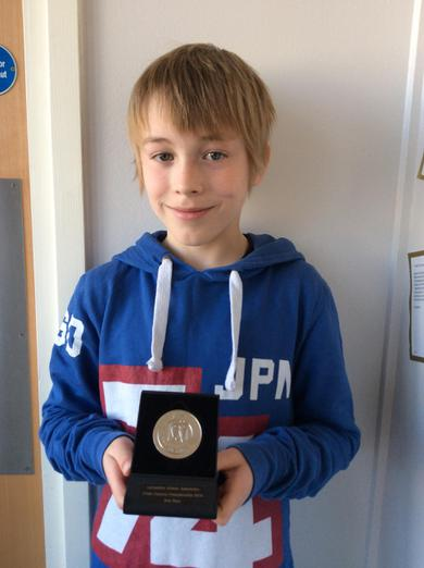 Toby came second in a Lancs cross country comp.