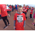 The first boy to complete 5k from Torrisholme!