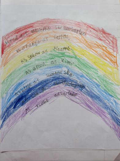 A rainbow of similes by Lilly.