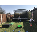 Holly and Jack's obstacle course!