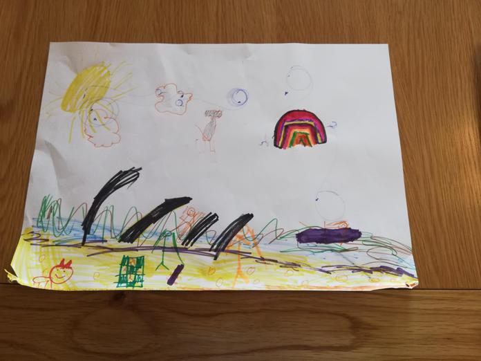 Clara's seaside picture - can you spot her?