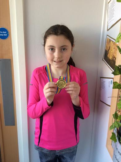 Evie ran the 'Colour Dash' fun run.