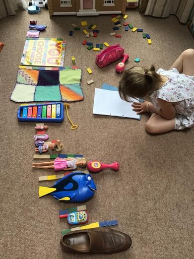 Measuring toys...