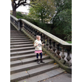 On the steps of the Prince's Street Gardens