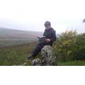 Ben reading outdoors...