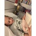 Enjoying reading. Nothing beats a good book