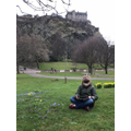 Enjoying a book in Edinburgh