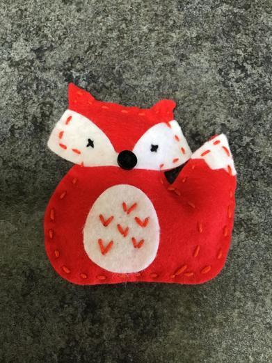 Grace's beautifully sewn fox