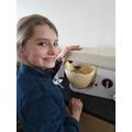 Sophie baking!