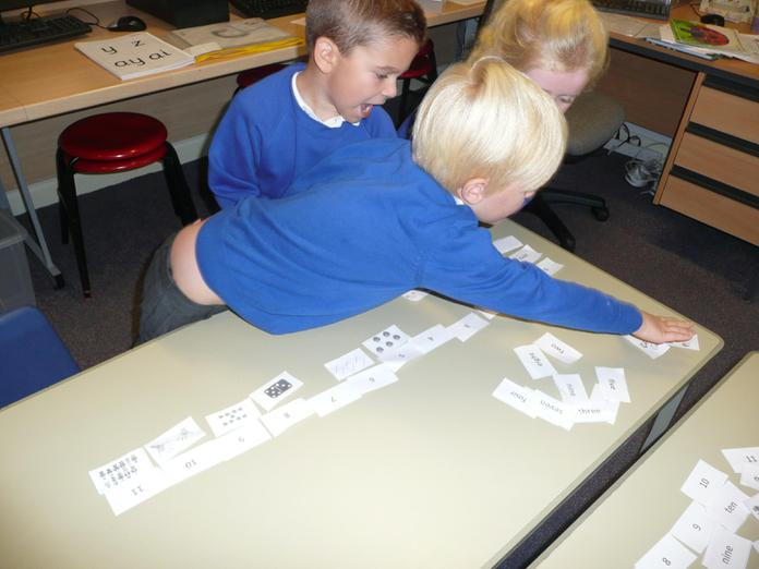 Making a 3 part number line.