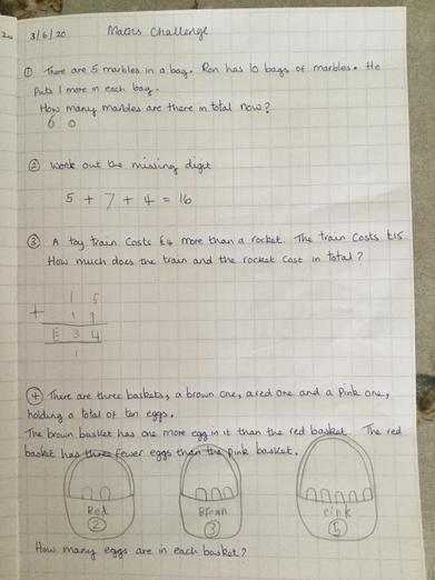 Fantastic effort on the Maths Problems, Evelyn!