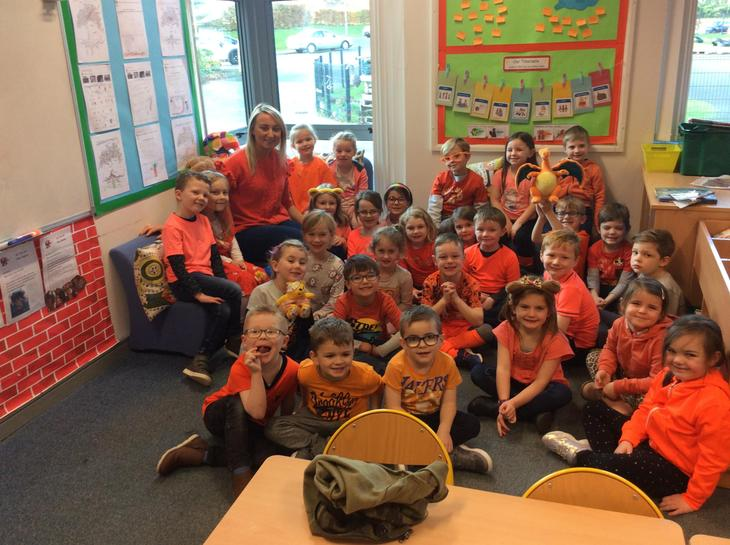 P2 enjoyed wearing orange for the day!!