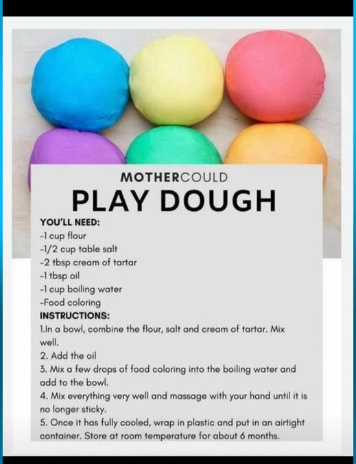 Easy playdoh recipe for your creations