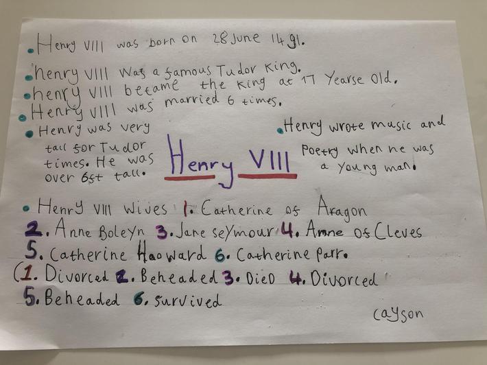 Cayson - Mrs Hill's class