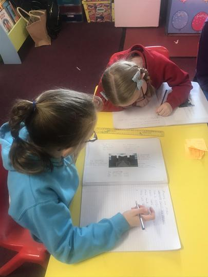 Writing about defence mechanisms in a castle