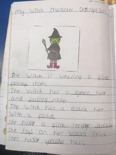 Extending our writing using adjectives