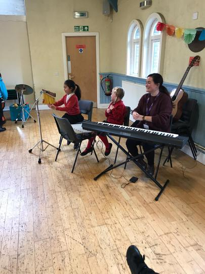 KS2 Music Therapy session