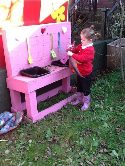 We love our 'mud kitchen'!