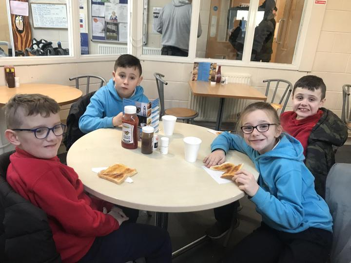 Having a snack and a chat in the Phoenix Centre