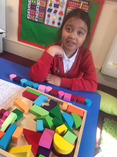 We used our shapes to make a repeating pattern