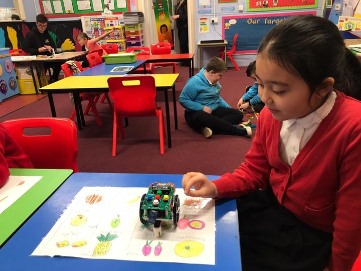 Using a robot to do some coding