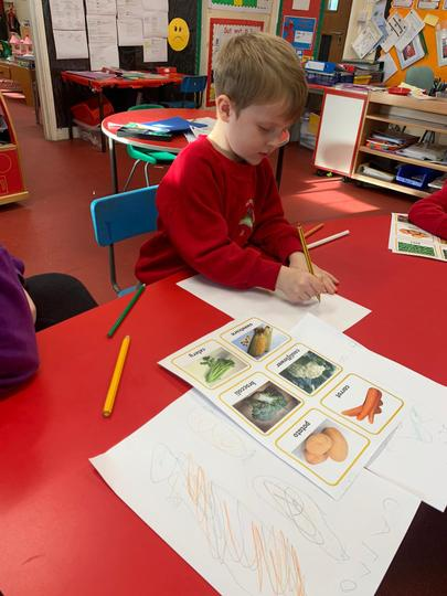 Writing about fruit and vegetables