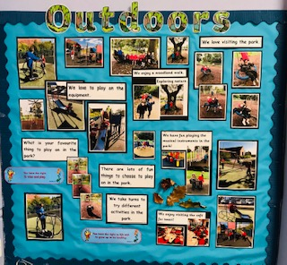 Our 'Outdoors' display in the Junior STF.