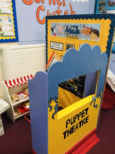 We use our role play area a lot!