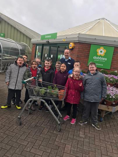 A class visit to Dobbies Garden Centre