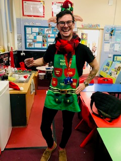 Mr Griffiths, our very own Christmas elf!