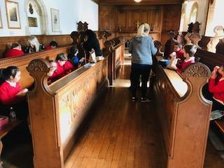 We had our lunch in the old chapel!
