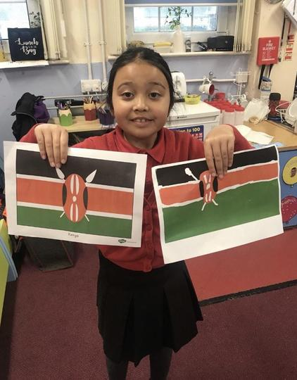 An excellent replica of the Kenyan flag using ICT