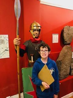 Posing with a Roman soldier!