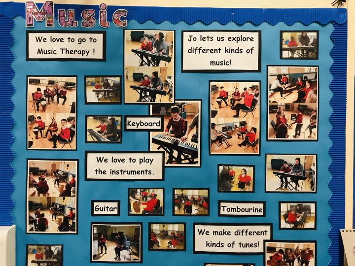 Our Music Therapy display.