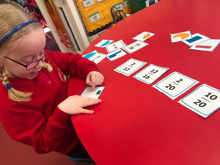 We enjoy practical games to learn fractions