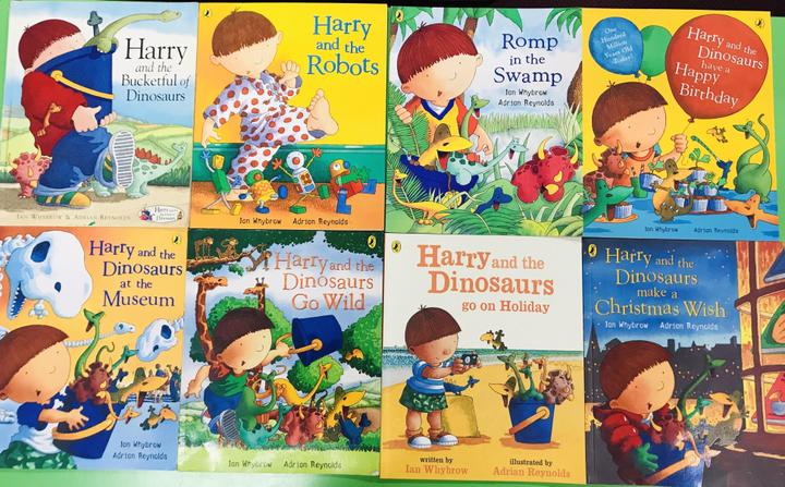 We read 'Harry and the Dinosaurs' books this term.