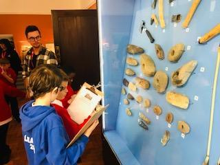 We loved examining the displays.