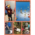 Team work to create Autumn hangings