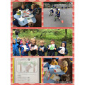 Enjoying the Gruffalo in class and at Forest School