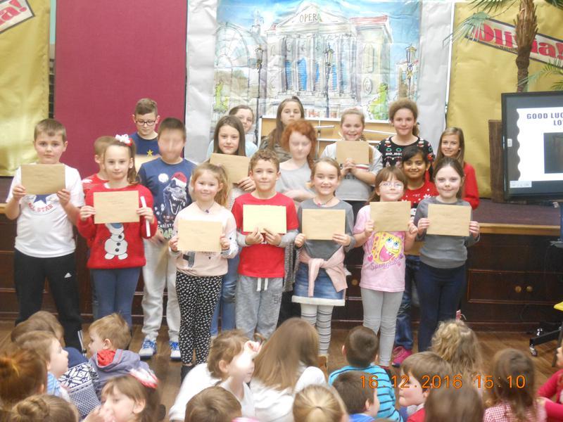 Junior attendance winners
